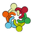 teamwork abstract symbol vector image