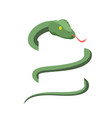 Snake wraps isolated cobra on white background vector image