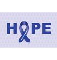 colon cancer ribbon vector image vector image