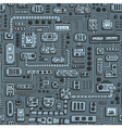 Appliances seamless pattern vector image