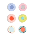 Plates and Dishes Ceramics Colorful Fun Set vector image