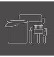 painting icon black vector image vector image