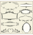 ornamental and page decoration elements vector image