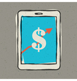 Earnings sign on smartphone screen vector image