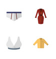 flat icon clothes set of clothes brasserie vector image