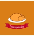 fried chicken for Thanksgiving flat vector image