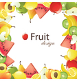 fruits frame vector image
