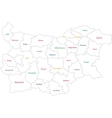 Outline Bulgaria map vector image