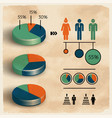population business diagram template vector image