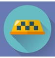 Taxi icon Flat designed vector image