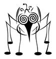 Crazy mosquito vector image