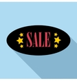 Sale sticker oval shape icon flat style vector image