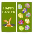 banny end colorful easter eggs vector image