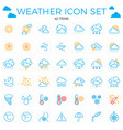 weather icon set line icons42 items clouds vector image