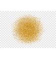 Golden circle sparkles on transparent background vector image