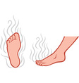 Stinky feet vector image