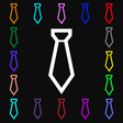 Tie icon sign Lots of colorful symbols for your vector image