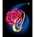 rose in space vector image