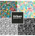 Set of urban patterns textures vector image