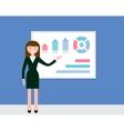Female Speaker Giving Presentation vector image