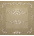 elegant frame for design vector image
