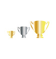 Award cup vector image
