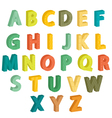 Colorful letters vector image