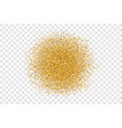 golden circle sparkles on transparent background vector image