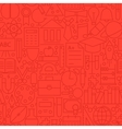 Line Education Red Seamless Pattern vector image