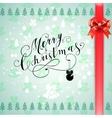 Merry Christmas glittering lettering design vector image