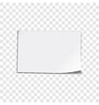 Paper sheet on transparent background vector image