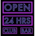 set of neon signs vector image