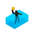 Swimmer playing water polo isometric 3d icon vector image