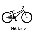 Dirt jump bike icon simple style vector image