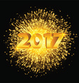 Happy New Year fireworks background vector image vector image