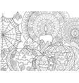 halloween pumpkin coloring vector image vector image