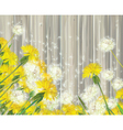 spring flowers wood vector image