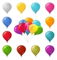 Colorful festive balloons set vector image