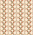 seamless pattern of circles retro palette vector image