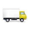 Commercial delivery cargo truck vector image