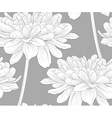 black and white seamless background with flowers vector image