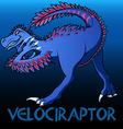 Velociraptor cute character dinosaurs vector image