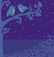 birds in the night vector image