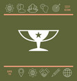 awards champions cup icon with star vector image