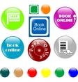 button book vector image
