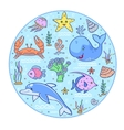 colorful underwater world vector image