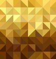 Gold triangle square seamless pattern low poly vector image