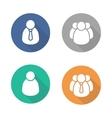 User flat design icon set vector image