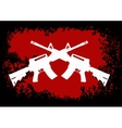 Two crossed assault guns vector image