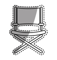 Director chair symbol vector image